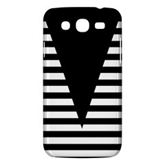 Black & White Stripes Big Triangle Samsung Galaxy Mega 5 8 I9152 Hardshell Case  by EDDArt
