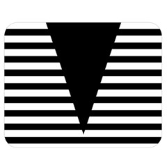 Black & White Stripes Big Triangle Double Sided Flano Blanket (medium)  by EDDArt