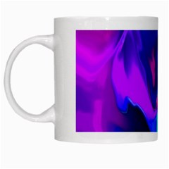 The Perfect Wave Pink Blue Red Cyan White Mugs by EDDArt