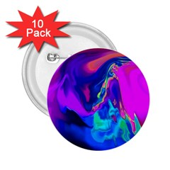 The Perfect Wave Pink Blue Red Cyan 2 25  Buttons (10 Pack)  by EDDArt