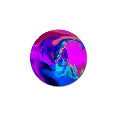 The Perfect Wave Pink Blue Red Cyan Golf Ball Marker by EDDArt