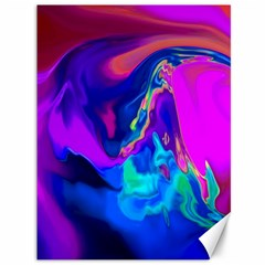 The Perfect Wave Pink Blue Red Cyan Canvas 36  X 48   by EDDArt