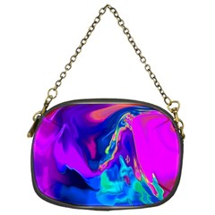The Perfect Wave Pink Blue Red Cyan Chain Purses (one Side)  by EDDArt