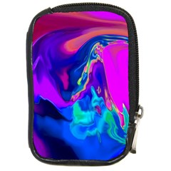 The Perfect Wave Pink Blue Red Cyan Compact Camera Cases by EDDArt