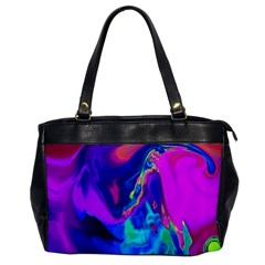 The Perfect Wave Pink Blue Red Cyan Office Handbags by EDDArt
