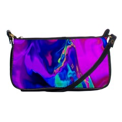 The Perfect Wave Pink Blue Red Cyan Shoulder Clutch Bags by EDDArt