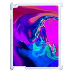 The Perfect Wave Pink Blue Red Cyan Apple Ipad 2 Case (white) by EDDArt