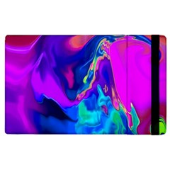 The Perfect Wave Pink Blue Red Cyan Apple Ipad 3/4 Flip Case by EDDArt