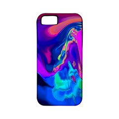 The Perfect Wave Pink Blue Red Cyan Apple Iphone 5 Classic Hardshell Case (pc+silicone) by EDDArt