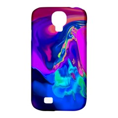 The Perfect Wave Pink Blue Red Cyan Samsung Galaxy S4 Classic Hardshell Case (pc+silicone) by EDDArt