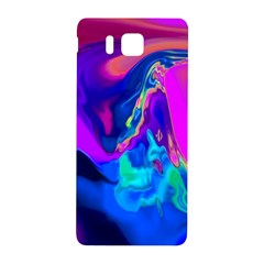 The Perfect Wave Pink Blue Red Cyan Samsung Galaxy Alpha Hardshell Back Case by EDDArt
