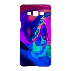The Perfect Wave Pink Blue Red Cyan Samsung Galaxy A5 Hardshell Case  by EDDArt