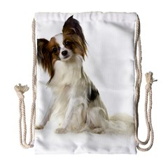 Papillon Full Drawstring Bag (Large) by TailWags