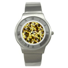 Abstract Pattern Stainless Steel Watch by Onesevenart