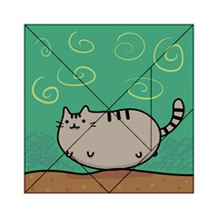 Fat Cat Acrylic Tangram Puzzle (6  X 6 ) by Onesevenart