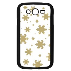 Gold Snow Flakes Snow Flake Pattern Samsung Galaxy Grand Duos I9082 Case (black) by Onesevenart