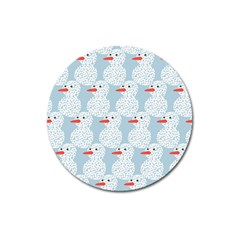 Christmas Wrapping Papers Magnet 3  (round) by Onesevenart