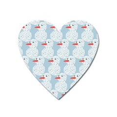 Christmas Wrapping Papers Heart Magnet by Onesevenart