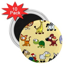 Group Of Animals Graphic 2 25  Magnets (10 Pack)  by Onesevenart