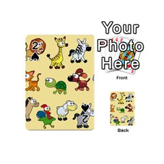 Group Of Animals Graphic Playing Cards 54 (mini)  by Onesevenart