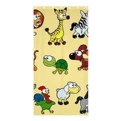 Group Of Animals Graphic Shower Curtain 36  X 72  (stall)  by Onesevenart