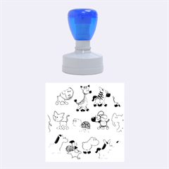 Group Of Animals Graphic Rubber Round Stamps (medium) by Onesevenart