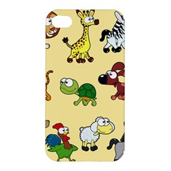 Group Of Animals Graphic Apple Iphone 4/4s Premium Hardshell Case by Onesevenart