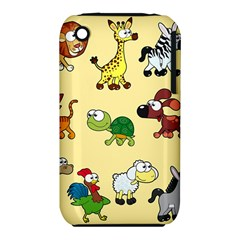 Group Of Animals Graphic Iphone 3s/3gs by Onesevenart