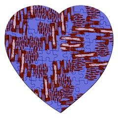 Ikat Sticks Jigsaw Puzzle (heart) by Onesevenart
