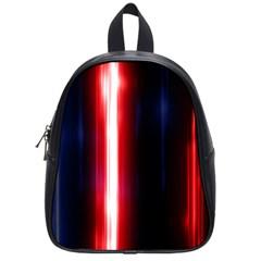 Lights Pattern School Bags (small)  by Onesevenart