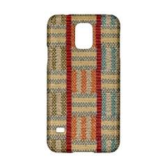 Fabric Pattern Samsung Galaxy S5 Hardshell Case  by Onesevenart