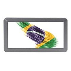 Flag Of Brazil Memory Card Reader (Mini) by Onesevenart