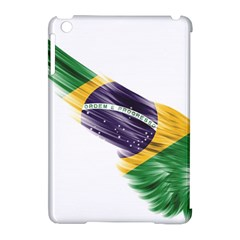 Flag Of Brazil Apple Ipad Mini Hardshell Case (compatible With Smart Cover) by Onesevenart