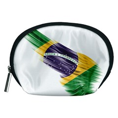 Flag Of Brazil Accessory Pouches (medium)  by Onesevenart