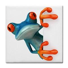 Tree Frog Illustration Tile Coasters