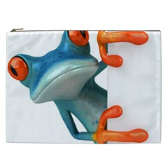 Tree Frog Illustration Cosmetic Bag (xxl)  by Onesevenart