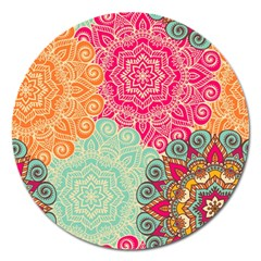 Art Abstract Pattern Magnet 5  (round) by Onesevenart
