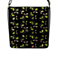 My Beautiful Garden Flap Messenger Bag (l)  by Valentinaart