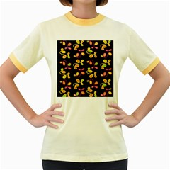 My garden Women s Fitted Ringer T-Shirts by Valentinaart