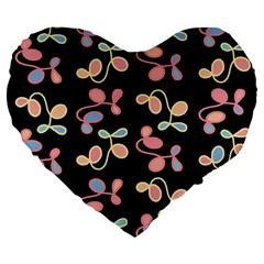 Elegant Garden Large 19  Premium Heart Shape Cushions by Valentinaart
