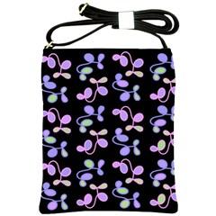 Purple Garden Shoulder Sling Bags by Valentinaart