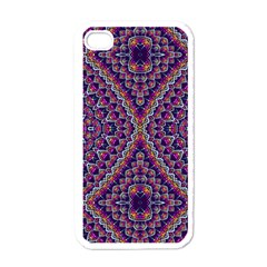 Purple Dotted Mosaic Apple Iphone 4 Case (white) by KirstenStar