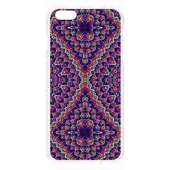 Purple Dotted Mosaic Apple Seamless iPhone 6 Plus/6S Plus Case (Transparent) by KirstenStar