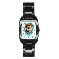 Should You Need Us 2 0 Stainless Steel Barrel Watch by lvbart