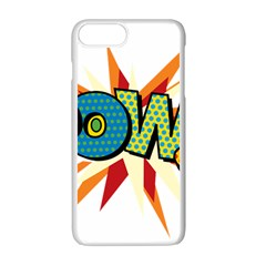 Comic Book Pow! Sans  Apple iPhone 7 Plus White Seamless Case by ComicBookPOP