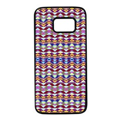 Ethnic Colorful Pattern Samsung Galaxy S7 Black Seamless Case by dflcprints
