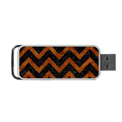 Chevron9 Black Marble & Brown Marble Portable Usb Flash (two Sides) by trendistuff