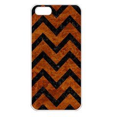Chevron9 Black Marble & Brown Marble (r) Apple Iphone 5 Seamless Case (white) by trendistuff