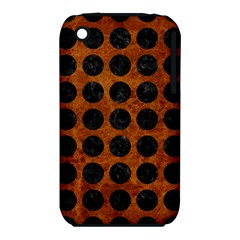 Circles1 Black Marble & Brown Marble (r) Apple Iphone 3g/3gs Hardshell Case (pc+silicone) by trendistuff