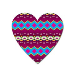 Rhombus And Ovals Chains                                                                                                               			magnet (heart) by LalyLauraFLM